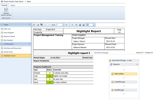 Project management environment ready within minutes