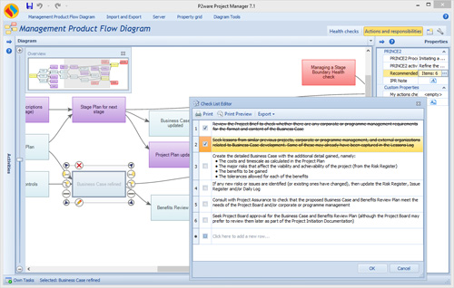 Utilize checklists to control PRINCE2® recommended actions